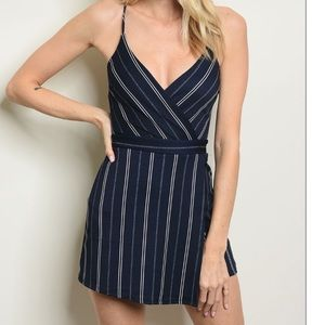 Other - ☀️NWT Navy & White Striped Romper